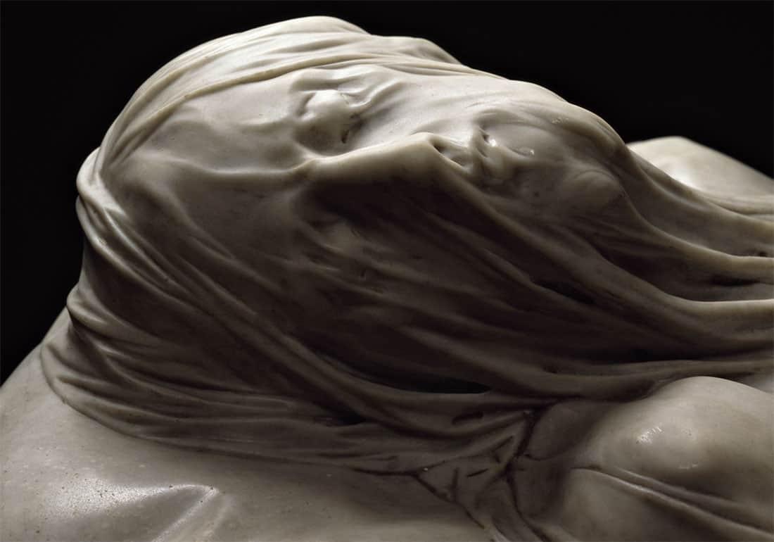 Il Cristo velato: Dettaglio del volto