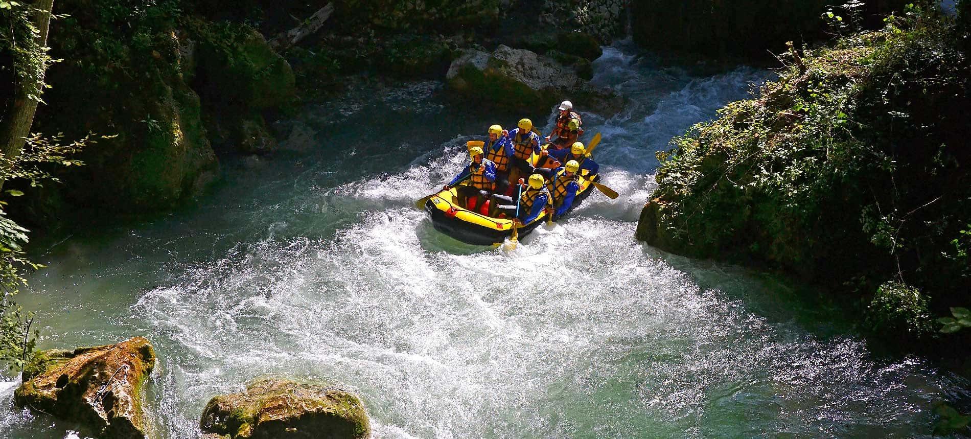 Rafting alla cascata delle Marmore