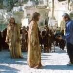 Mel Gibson e Jim Caviezel sul set del film