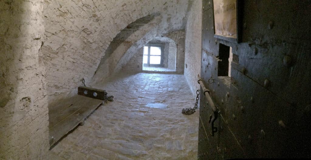 La cella nella Cittadella di Alessandria dove fu rinchiuso Andrea Vochieri