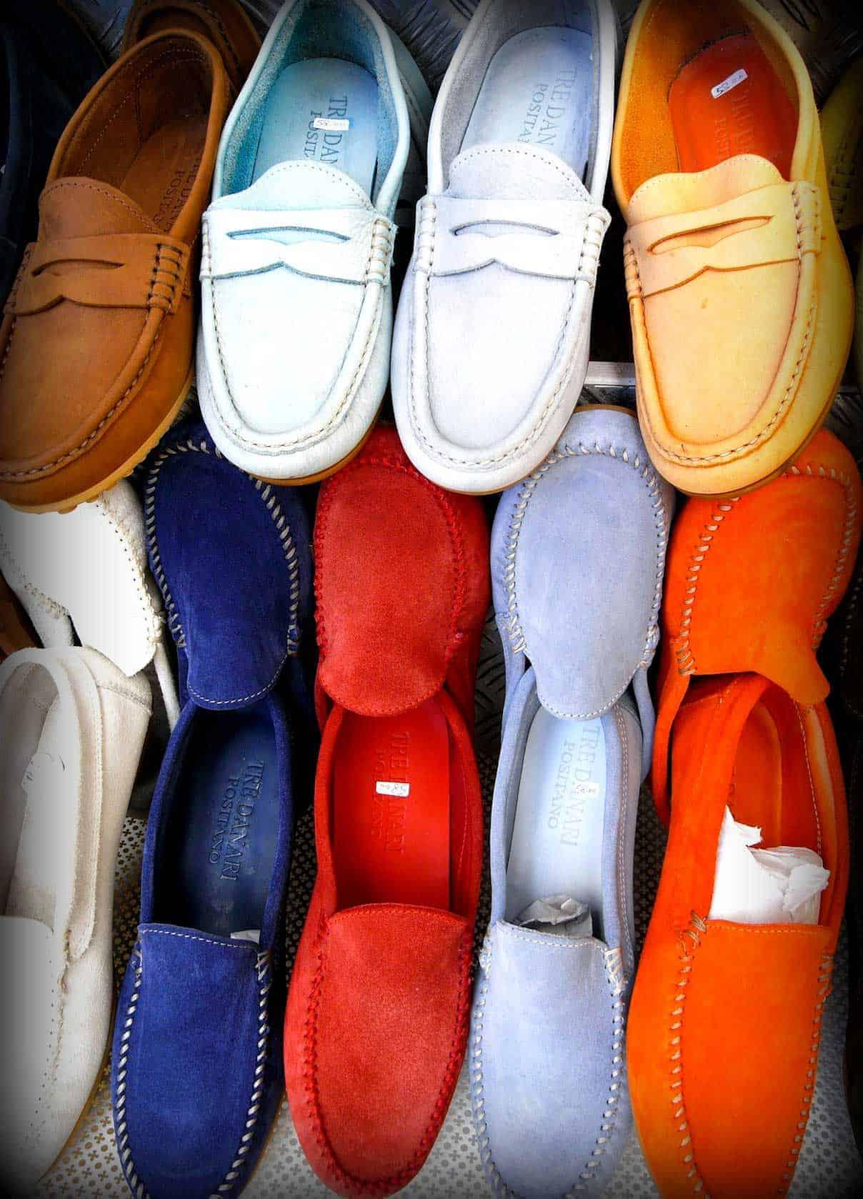 Positano i sandali in cuoio
