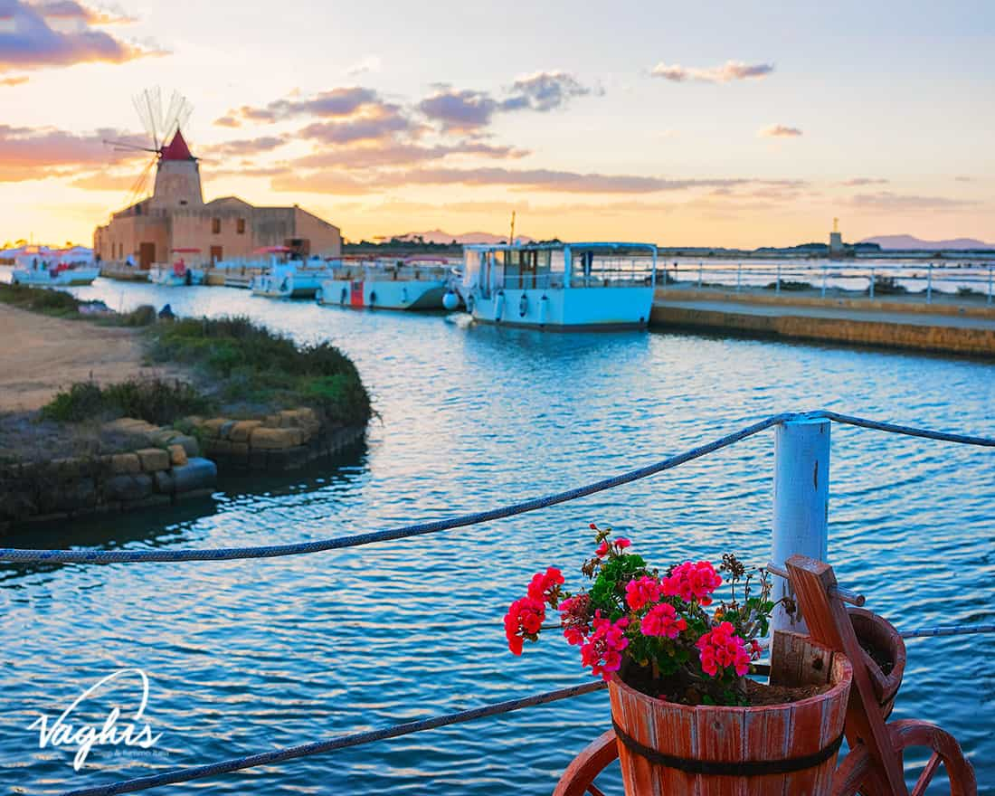 Marsala: Le saline - © Vaghis - viaggi & turismo Italia - Tutti i di-ritti riservati