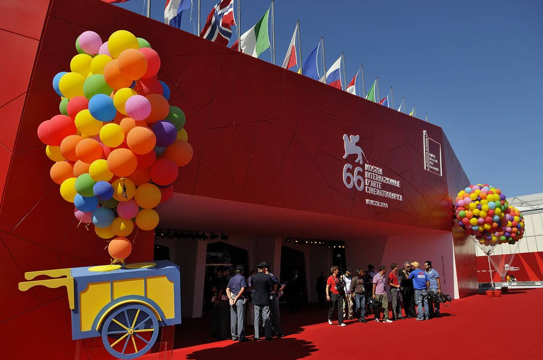 Il Palazzo del Cinema di Venezia durante la 66ª Mostra internazionale d'arte cinematografica