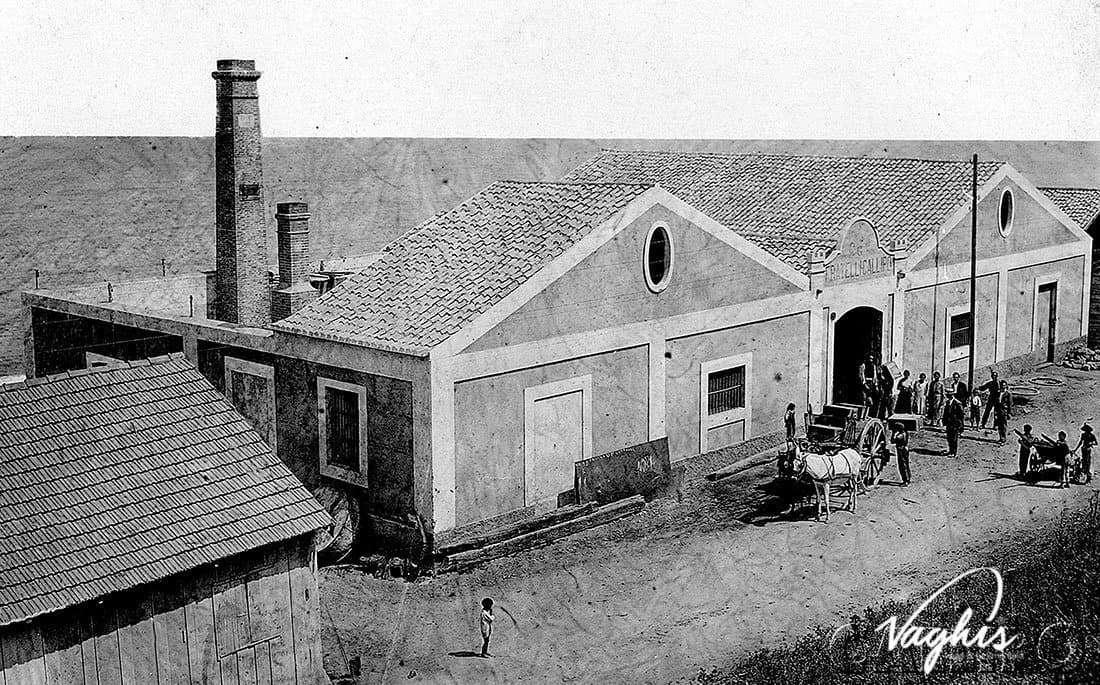 Foto storica Stabilimento Callipo - Marina di Pizzo 1923