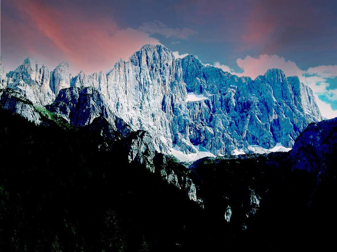Alleghe: La parete nord-ovest del Monte Civetta