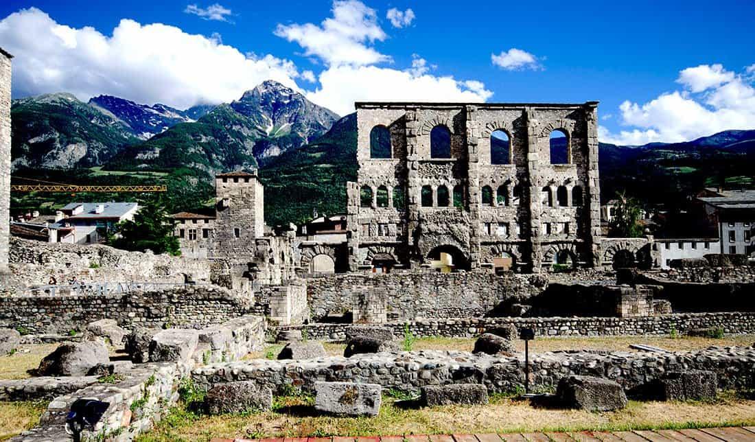 Aosta: Teatro romano