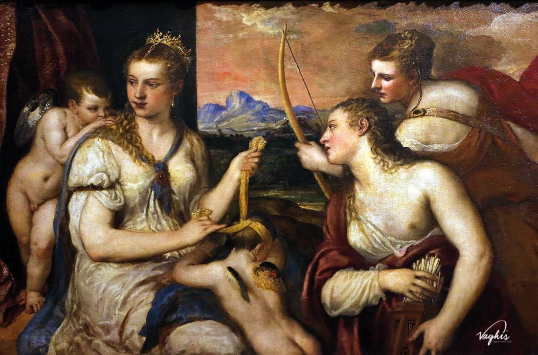 Galleria Borghese: Tiziano (Venere che Benda Amore)