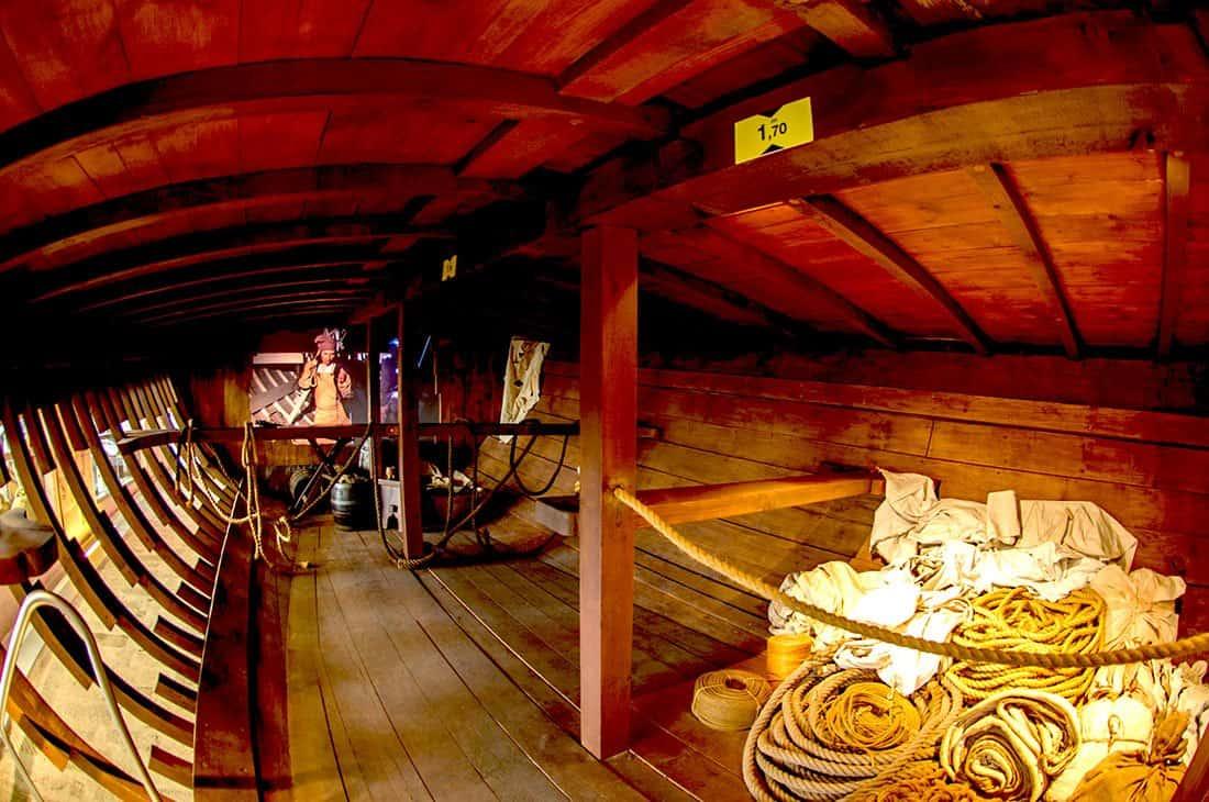 Interno della Galea - ©Galata Museo del Mare – Tutti i diritti riservati